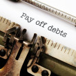 Stock Photo: Pay off debts