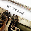 Quit drinking — Stock Photo #38306983