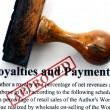 Royalties and payments — Stock Photo #38307117