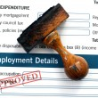 Stock Photo: Employment form - approved