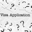 Visa application — Stock Photo #38433871