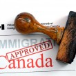 Immigration Canad- approved — Stock Photo #38434123