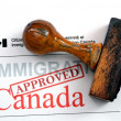 Stock Photo: Immigration Canad- approved