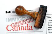 Immigration Canada - approved — Stock Photo