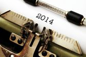 2014 text on typewriter — Stockfoto