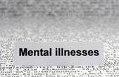 Mental illnesses — Stockfoto