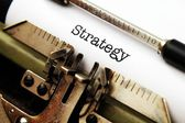 Strategy text on typewriter — Stockfoto