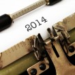2014 year on typewriter — Stock Photo