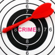 Stock Photo: Crime target concept