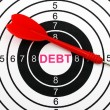 Debt target — Stock Photo #38921711
