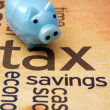 Stock Photo: Piggy bank and tax concept