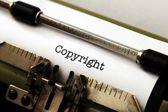 Copyright on typewriter — Stock Photo