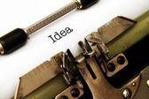 Idea on typewriter — Zdjęcie stockowe
