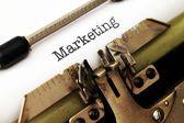 Marketing text on typewriter — Stock Photo