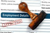 Employment details - approved — Stock Photo