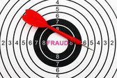 Fraud target — Stock Photo