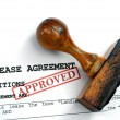 Lease agreement — Stock Photo #39110997