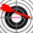 Market target — Stock Photo