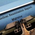 Medical report - migraine — Stock Photo #39111431