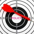 Policy target concept — Stock Photo