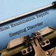 Stock Photo: Sleeping disorder