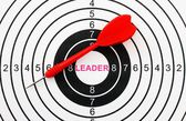 Leader target — Stock Photo