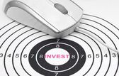 Invest target — Stockfoto