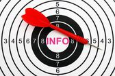 Information mål — Stockfoto