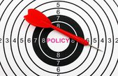 Policy target concept — Foto Stock