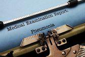 Medical report - Pneumonia — Photo