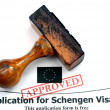 Stock Photo: Application for Schengen visa