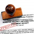 Stock Photo: Sensitive security information