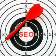 Stock Photo: Seo target concept