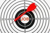 Job target concept — Stockfoto