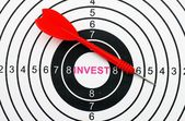 Invest target — Stock Photo