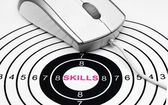 Skills target concept — Stockfoto