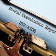 Hiv - aids report — Foto Stock #39525319