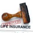 Life insurance - approved — Stock Photo