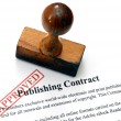 Stock Photo: Publishing contract - approved