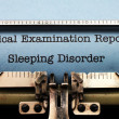 Stock Photo: Sleeping disorder report