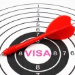 Visa target concept — Stock Photo