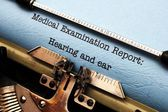 Hearing and ear medical report — Stock Photo