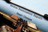 Heart disease report — ストック写真