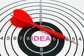 Idea target — Stockfoto