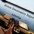 Stock Photo: Medical report - Arthritis