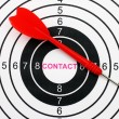 Contact target — Stock Photo