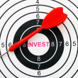 Invest target concept — Stock Photo #39730719