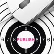 Stock Photo: Publish target concept