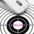 Stock Photo: Value target