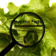 Nutrition facts - lettuce — Stock Photo #39968229